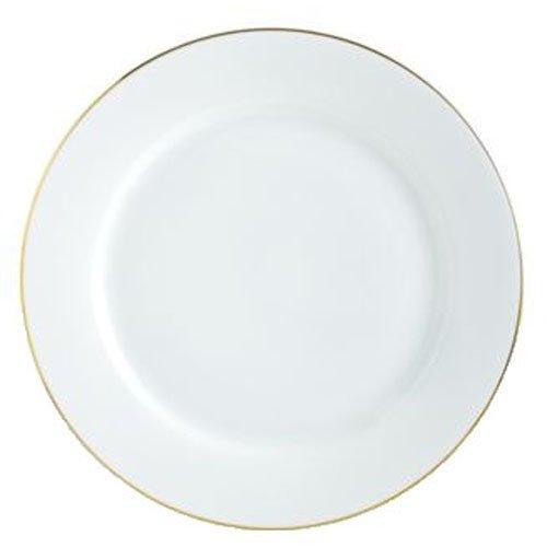 Charter Club Grand Buffet Fine Line Gold Dinner Plate Sri Lanka White Porcelain