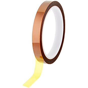 """Bertech Kapton Polyimide Adhesive Tape, 3"""" Core, 1 mil Thick, 36 yd Length, 1/2"""" Width"""