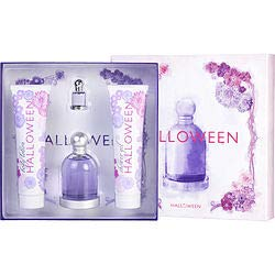 HALLOWEEN by Jesus Del Pozo Gift Set -- 3.4 oz Eau De Toilette Spray + 5 oz Body Lotion + 5 oz Shower Gel + .15 oz Mini EDT for Women ()