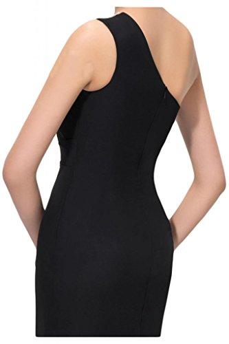 Por la noche de la Toscana de novia de Gasa de noche de la manera de la ranura de largo al tul vestidos de bola con vestidos Prom negro