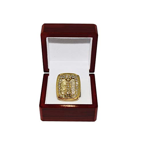 MONTREAL CANADIENS (Patrick Roy) 1993 STANLEY CUP FINALS CHAMPIONS Vintage Rare Collectible High-Quality Replica Hockey Gold Championship Ring with Cherrywood Display Box