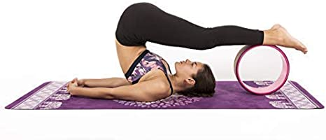 JAP Sports Yoga Wheel St/ärkstes und bequemstes Dharma Yoga Prop Rad 33 x 13 cm Pro Series Yoga Rad - Perfektes Zubeh/ör zum Dehnen und Verbessern von R/ückbeugen