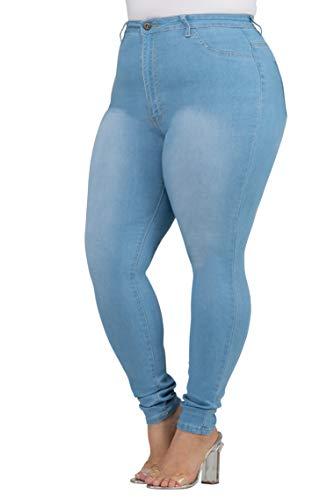 a241b809c44 143Fashion Plus Size Stretch Distressed Ripped Denim Jeans Colored Pants  for Women (1XL-4XL