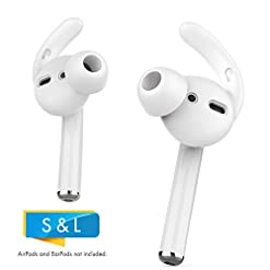 AHASTYLE AirPods Ear Hooks Covers 2 Pairs Silicone Antislip Earbuds Tips [Sound Quality Enhancement] for Apple AirPods 2… Headphones and Earphones [tag]