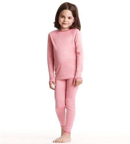 Cuddl Duds Girls Long Sleeve Crew Neck & Pant Thermal Set
