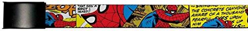 Spider-Man Marvel Comics Superhero Comic Panels Action Web Belt Chrome