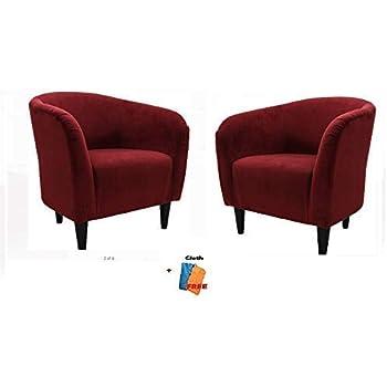Amazon Com Mainstays Microfiber Tub Accent Chair 27 50 X