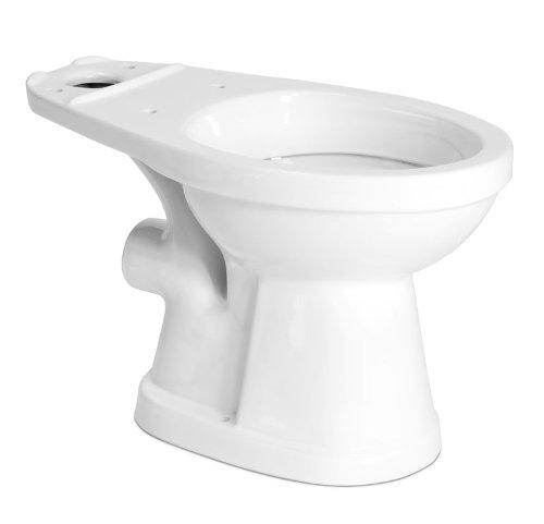 Saniflo 007 16-3/4 High ADA compliant Elongated Toilet bowl, Rear Spigot Toilet, White (Ada Compliant Elongated Bowl)