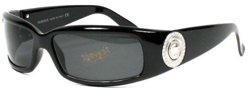 7fb7d36ef182 Versace Women s VE4044B Sunglasses Shiny Black Gray 60mm ...