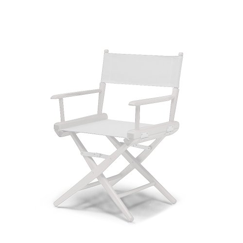 Telescope Casual World Famous Dining Height Director Chair, White with White Frame - Dining Height Director Chair