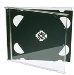 Cajas dobles para CD (25 unidades, 10 mm), color negro: Amazon.es ...