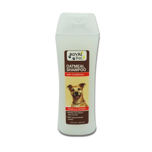 Oatmeal Shampoo w/ Conditioner Vanilla – Soothes and Relieves Itchy Dry Skin, 12 oz,(Royal Pet), My Pet Supplies