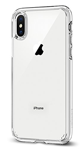 Spigen Ultra Hybrid iPhone X Case + Air Cushion Tech Crystal Clear (Large Image)