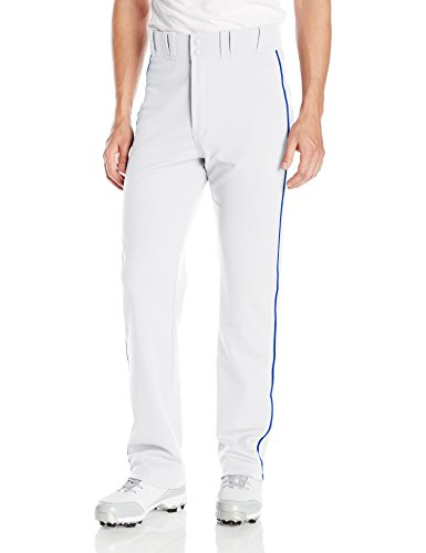 (EASTON RIVAL 2 Baseball Softball Pant | Adult | Medium | White Royal | 2020 | Double Reinforced Knee | Elastic Waistband w/ 2 Color Internal Easton Logo | 2 Batting Glove Pockets | 100% Polyester)