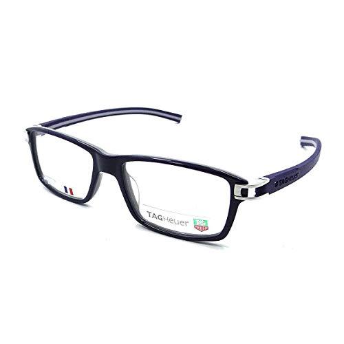 TAG Heuer 7601-003 Track S Blue Rectangular Plastic Eyeglasses - Tag Heuer Track