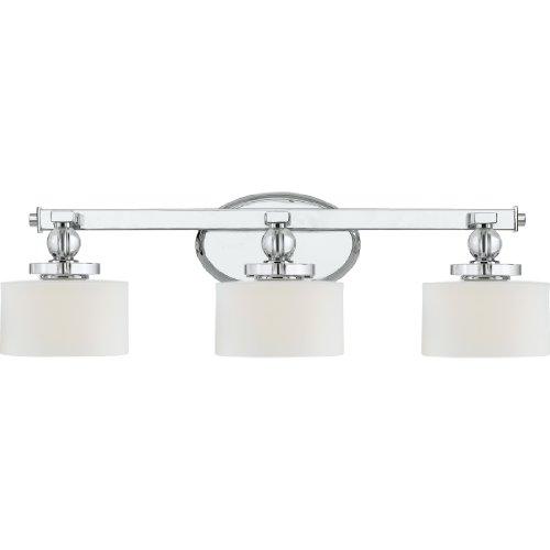 Quoizel dw8603c three bath fixture vanity lighting - Chrome bathroom lighting fixtures ...