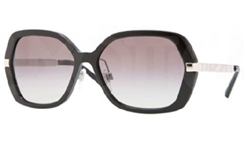 Burberry BE4153Q 300111 Black / Silver BE4153Q Butterfly Sunglasses Lens - Women Burberry Sunglasses