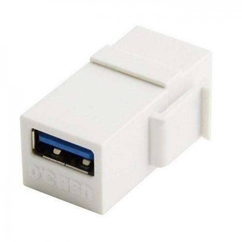 CY USB 3.0 A Female to A Female Extension Keystone Jack Coupler Adapter for Wall Plate Panel USB Cable