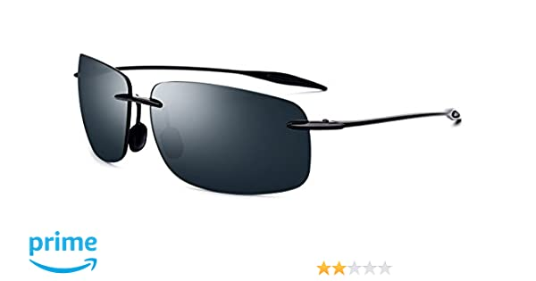 935ccfaff8 FONEX Maui TR90 Rimless Ultralight Sunglasses for Men with Mirror Square  Nylon Lens 1607