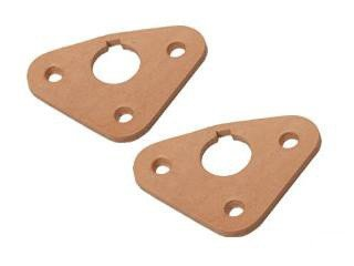 (Mustang Wiper Pivot Shaft Seals Pair Leather 1964 1/2 - 1966)