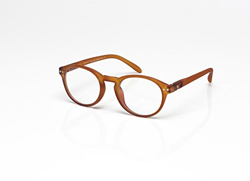 Blueberry - Computer Glasses - Size M - Brown - Unisex - Blue Light Blocking Eyeglasses - Digital Screen Glasses - Reduce Eyestrain and Eye Fatigue - Clear Lenses - (Toffee, Clear) (Clear Lens Smooth)