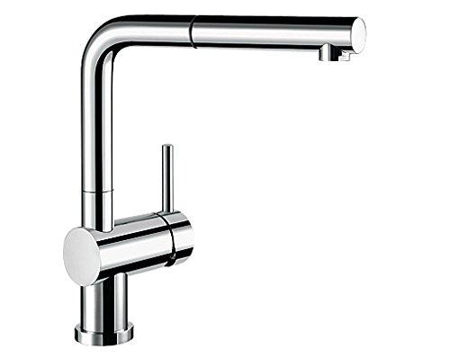 Blanco LINUS-S-F Küchenarmatur, metallische Oberfläche, chrom, Hochdruck, Vorfenster, 1 Stück, 514023