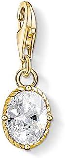 Thomas Sabo - Colgante Charm de Mujer Piedra Blanca Charm Club, Plata de Ley 925