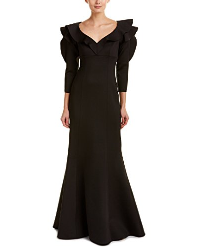 Teri Jon Womens Gown, 6, Black