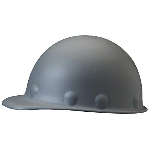 Fibre-Metal Roughneck Gray Fiberglass Cap Style Hard Hat - 8-Point Suspension - Tab Lok Adjustment - FIBRE-METAL P2AW09A000 [PRICE is per EACH] Suspension Tab