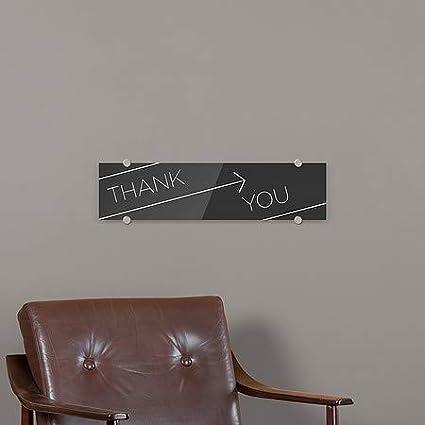 CGSignLab 24x6 Basic Black Premium Brushed Aluminum Sign Thank You