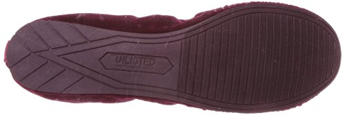 Unlisted by Kenneth Cole Womens Whole Sparkle Glitzy Ballet Flat Burgundy 9FDw3Z915