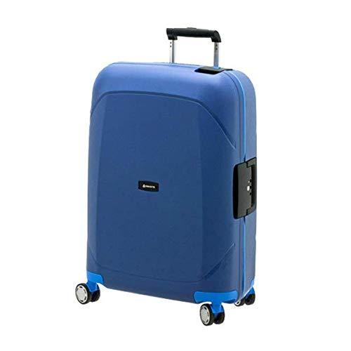 スーツケース mサイズ 57l ブルー×ブルー キャリーケース キャリーバッグ ビジネス 出張 旅行 ハードスーツケース キャビンケース メンズ レディース ヨーロッパブランド DAVIDTS/デイビット SK-Lineシリーズ ブルー×ブルー B07JGSWSWK