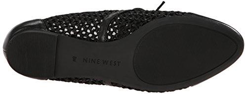 Negen West-dames Zalika Lederen Fashion Sneaker Zwart / Zwart