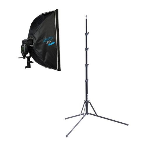 Westcott Rapid Box 10x24'' Strip - Bundle With Flashpoint Nano Light Stand - 8.5' by Westcott