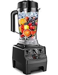 (Vanaheim GB64 Professional Blender 1450W,64Oz Container,Variable Speed,Built-in Timer,Self Cleaning,Powerful Blade for Easily Crushing Ice, Smoothies,Frozen Dessert, Black)
