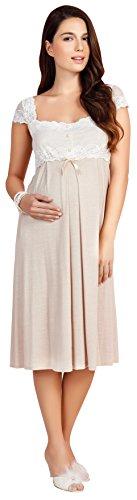 Bondy Maternity Pajamas 2-Piece Nightgown and Robe