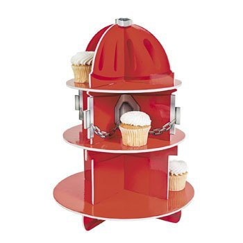 Fun Express Fire Hydrant Cupcake Holder Stand Birthday Boy Cupcake