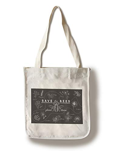 (Lantern Press Save The Bees - Plant These 95440 (100% Cotton Tote Bag - Reusable))