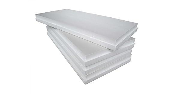 Paneles de Poliestireno - EPS 100 Blanco - Poliestireno expandido sinterizado de 3 cm de espesor para aislamiento térmico de vigas, pilares o sistema de ...