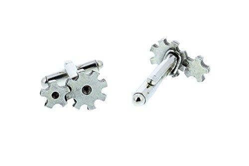 Silver Gear Cuff Links By Classic Cufflinks