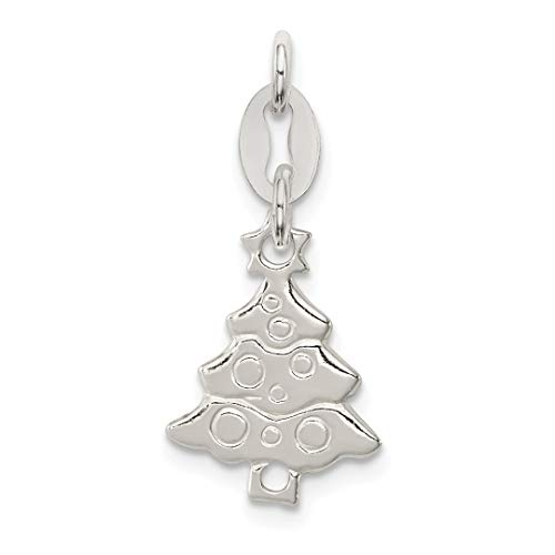 925 Sterling Silver Christmas Tree Pendant Charm Necklace Holiday Fine Jewelry For Women Gift Set
