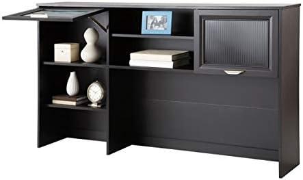 Amazon Com Realspace Magellan 58 W Hutch For Corner L Desk Espresso Home Kitchen