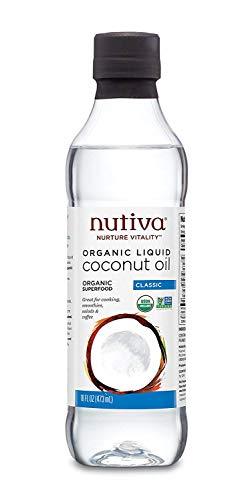Nutiva Organic, Unrefined, Liquid Coconut Oil, 16 Ounces.