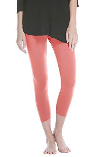 Fishers Finery Ecofabric Capri Legging; Casual Lounge Legging (Coral Medium)