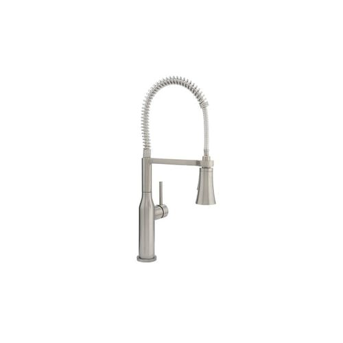 ProFlo PFXC5012 Pre Rinse Kitchen Faucet With Multi Function Spray Head,  Brushed Nickel