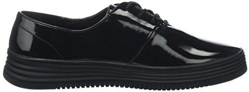 up Trainers Schwarz Shoe Bianco Women's Casual Laced Black 103 1awfq7