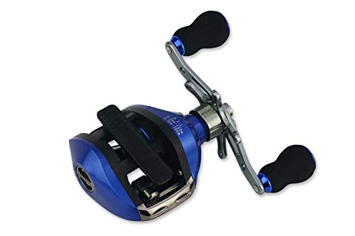 SH-QIAN Carrete De Pesca Rueda De Goteo Relación De Velocidad 6.3: 1 Peso Ligero Copa De Alambre De Metal Completo Freno Magnético Suavizar Aparejos De Pesca Marítima,Righthand por SH-QIAN