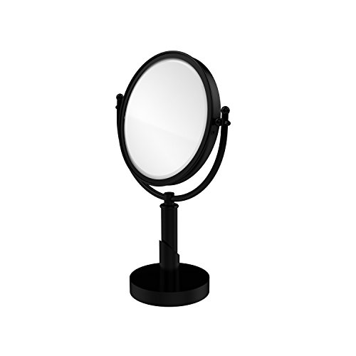 Allied Brass SH-4/3X-BKM Soho Collection 8 Inch Vanity Top Make-Up Mirror 3X Magnification, Matte Black ()
