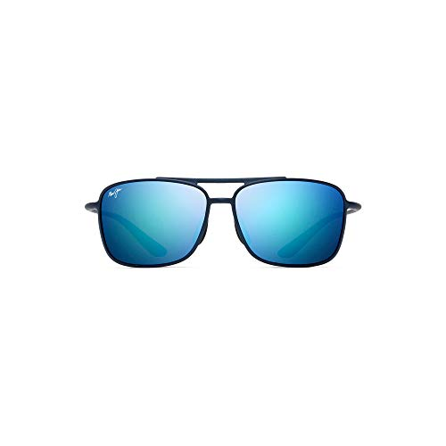 Maui Jim Kaupo Gap B437-03M Matte Blue Frame  Blue Hawaii Polarized Lenses (Maui Jim Sunglasses)