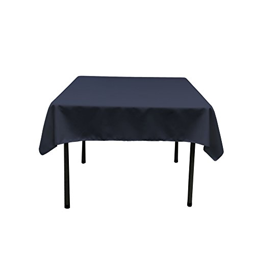 LA Linen Polyester Poplin Square Tablecloth, 52